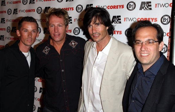 Actors (L-R) Chance Michael Corbitt, Brooke McCarter, Billy Wirth and Jamison Newlander attend the A&E Premiere Of 'The Two Coreys' held at Sugar nightclub on July 27, 2007, in Hollywood California. | Source: Getty Images.