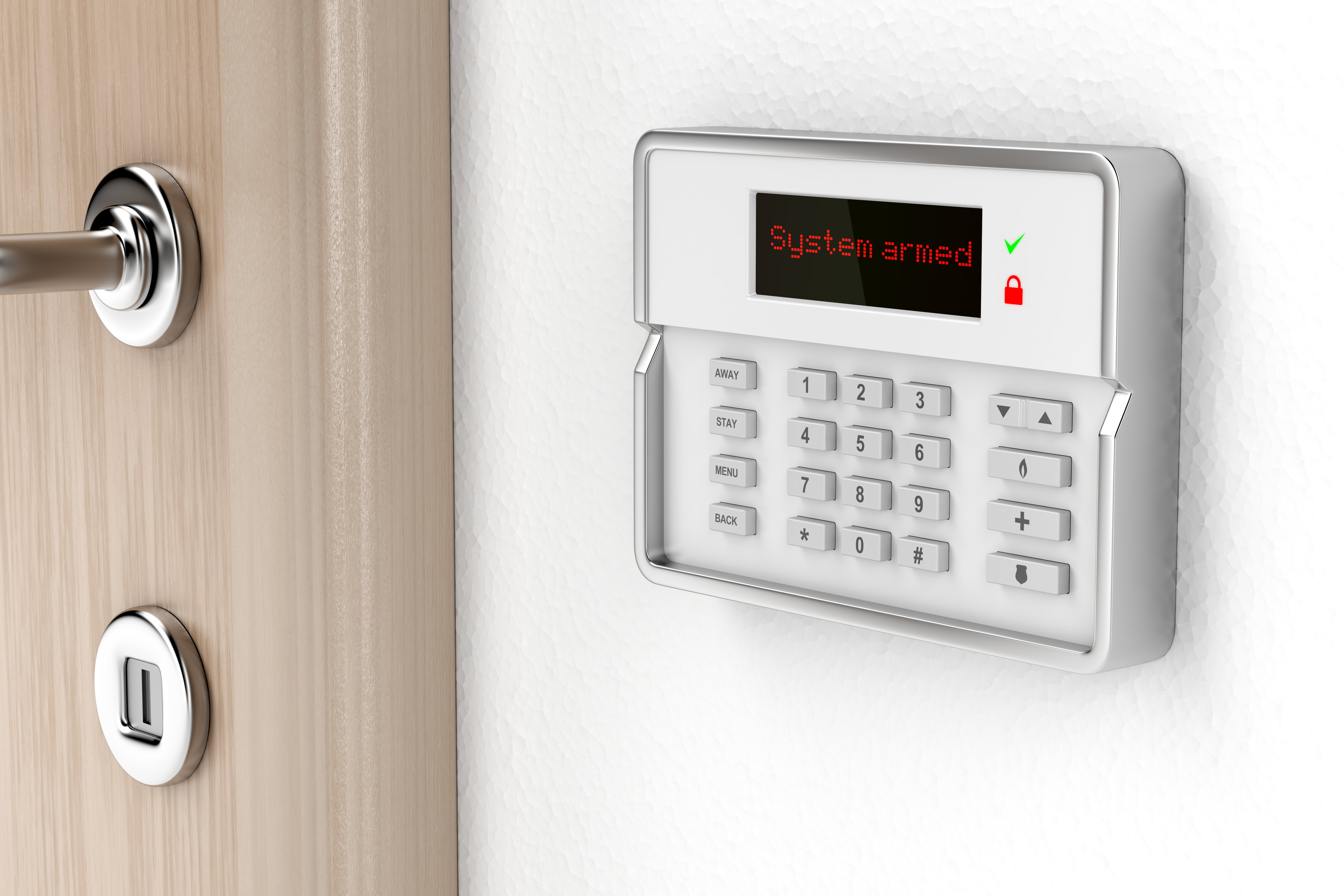 An installed security system inside a home | Photo: Shutterstock