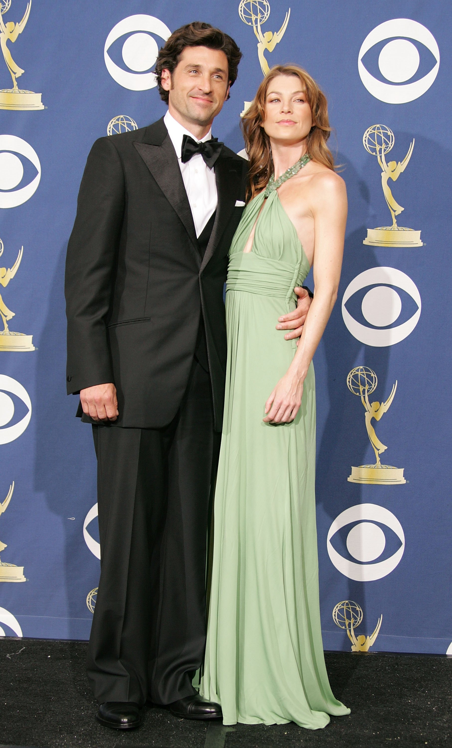 Patrick Dempsey and Ellen Pompeo pictured at the 57th Annual Emmy Awards, 2005, Los Angeles, California. | Photo: Getty Images