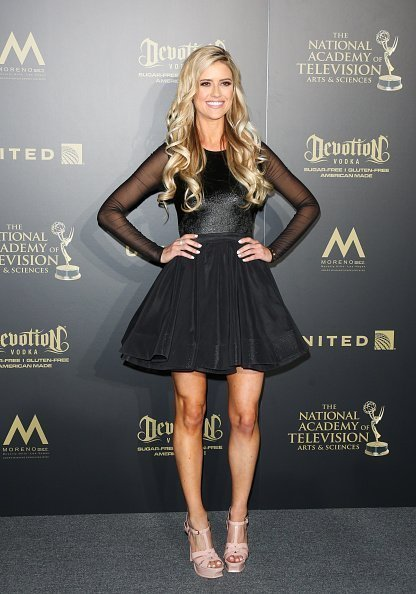 TV Personality Christina El Moussa attends the press room for the 44th annual Daytime Emmy Awards at Pasadena Civic Auditorium | Photo: Getty Images