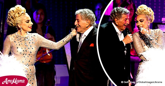 Tony Bennett performs with Lady Gaga before making a warm post about her Oscar nomination