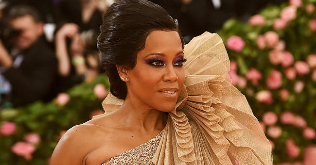 Regina King Looks Stunning in Sophisticated Silver Dior Dress with a Plunging Neckline (Photo)