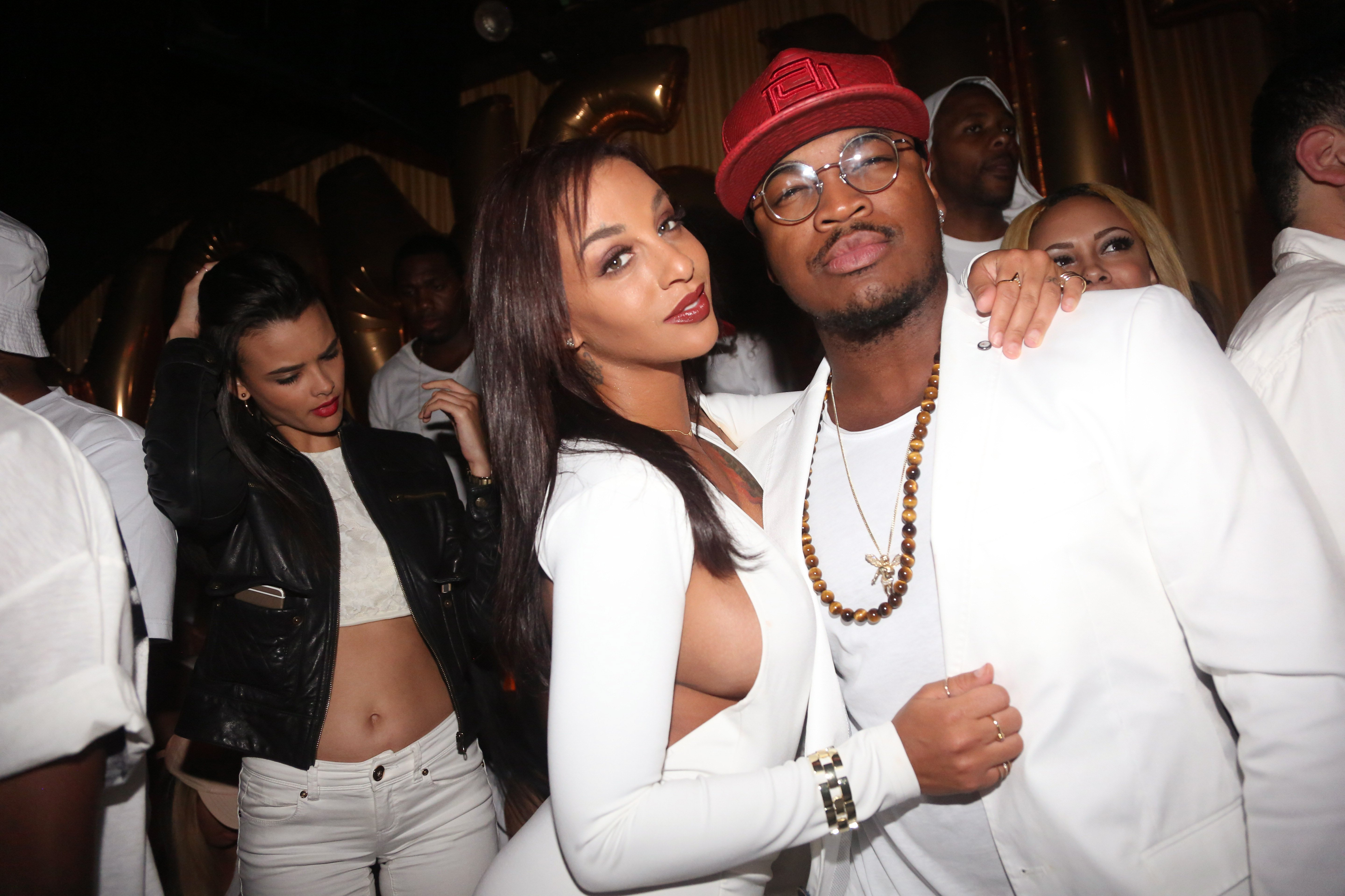 Ne-Yo and Crystal Smith at Von Smith's birthday celebration in June 2015 in New York City.   Photo: Getty Images