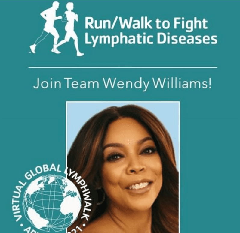 Wendy Williams encouraging her fanbase to join the run/walk to fight against lymphatic diseases.| Source: Instagram/wendyshow