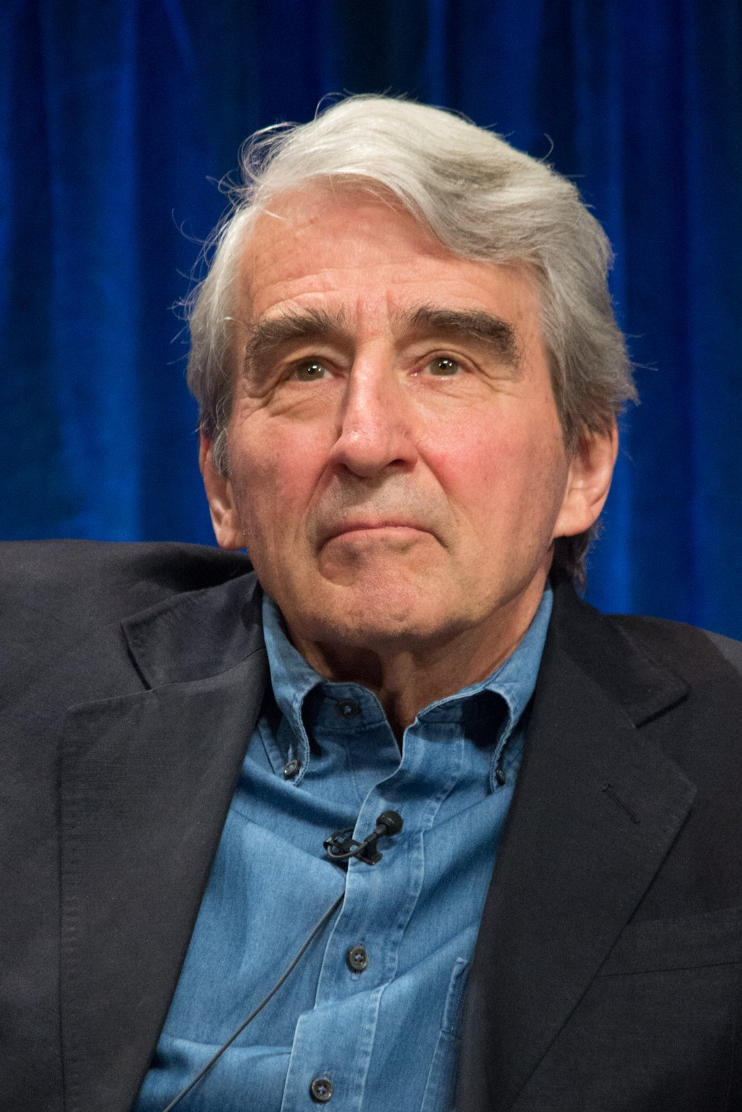 "Sam Waterston at the PaleyFest 2013 panel on the TV show ""The Newsroom."" 