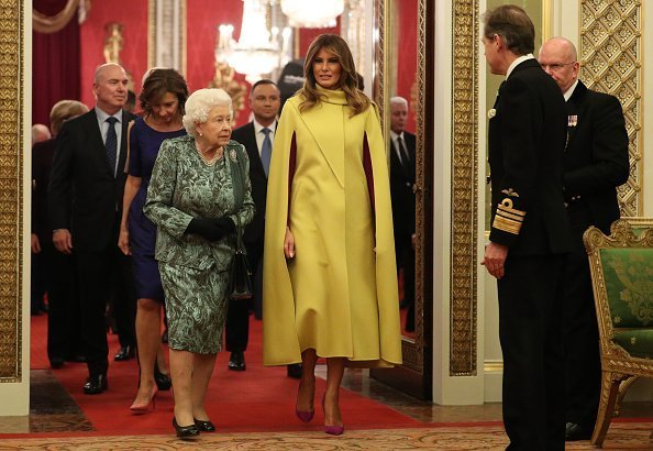 Queen Elizabeth II and First Lady Melania Trump at Buckingham Palace on December 3, 2019 | Photo: Getty Images