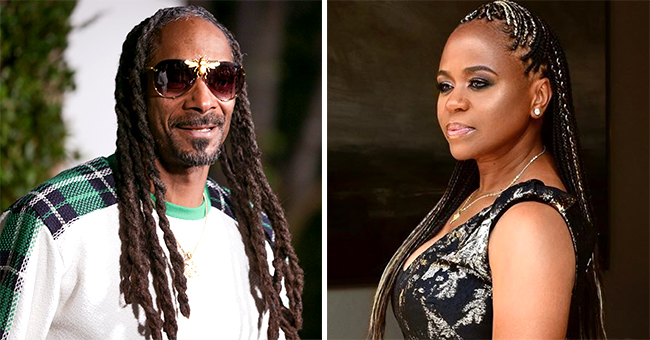 Snoop Dogg's Wife Wore Low-Cut Black Dress with Gold Detail to Mike Epps' Wedding