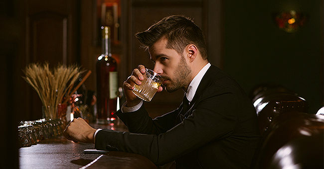 Daily Joke: A Man Is Surprised as He Sees His Friend Furiously Imbibing Shots of Whiskey