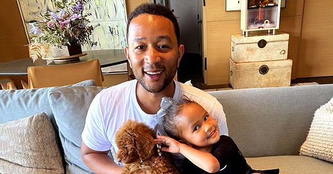 Chrissy Teigen Laughs as Daughter Luna Calls Dad John Legend by His First Name in Video