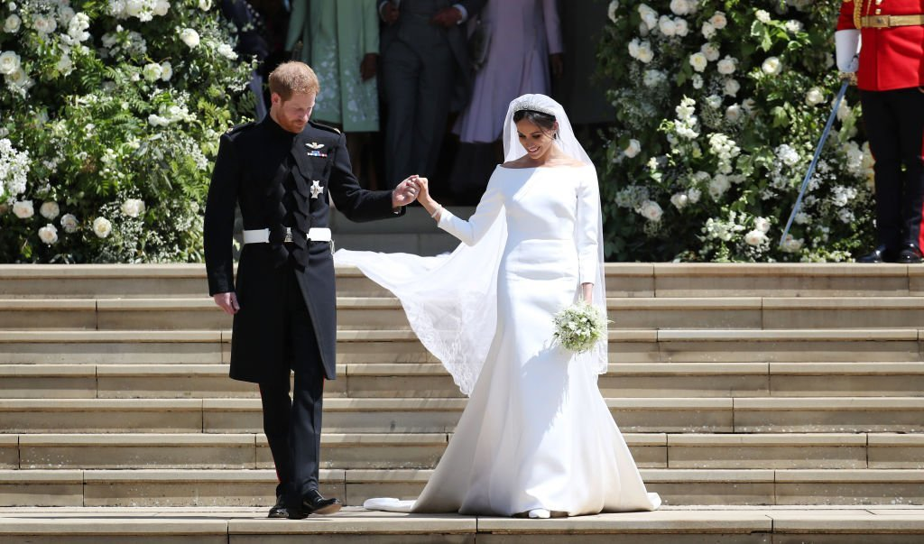 The Duke and Duchess of Sussex on their wedding day, one of the last times they were photographed holding hands. | Photo: Getty Images