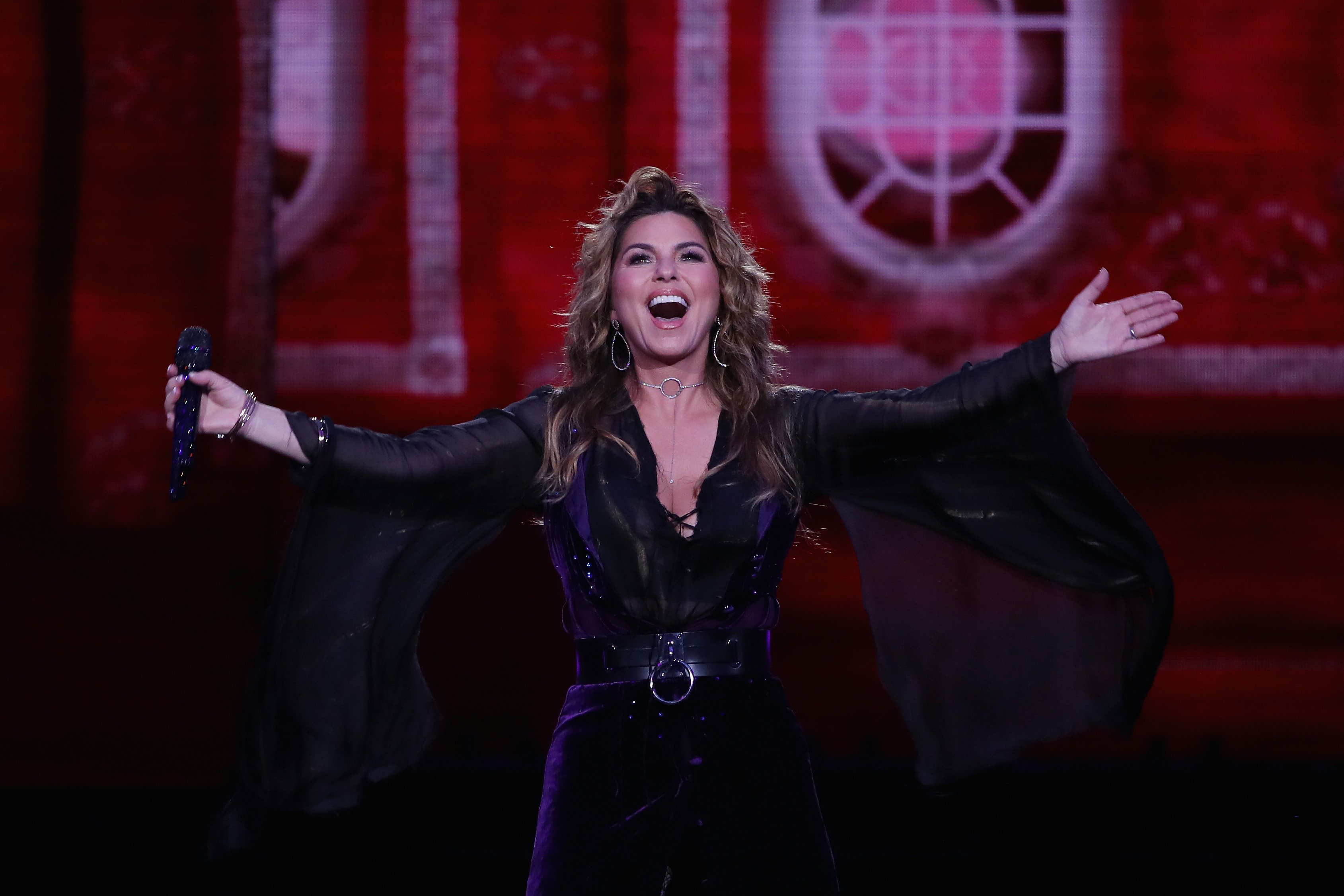 Shania Twain performs at the opening of the US Open in Queens, New York on August 28, 2017 | Photo: Getty Images