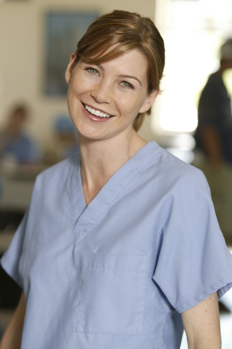 """Ellen Pompeo as Meredith Grey in """"Grey's Anatomy"""" on April 26, 2004 