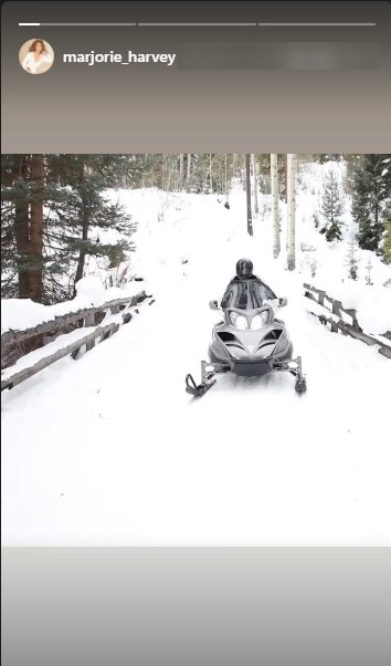 A picture of Marjorie Harvey having fun on a snowmobile. | Photo: Instagram/marjorie_harvey