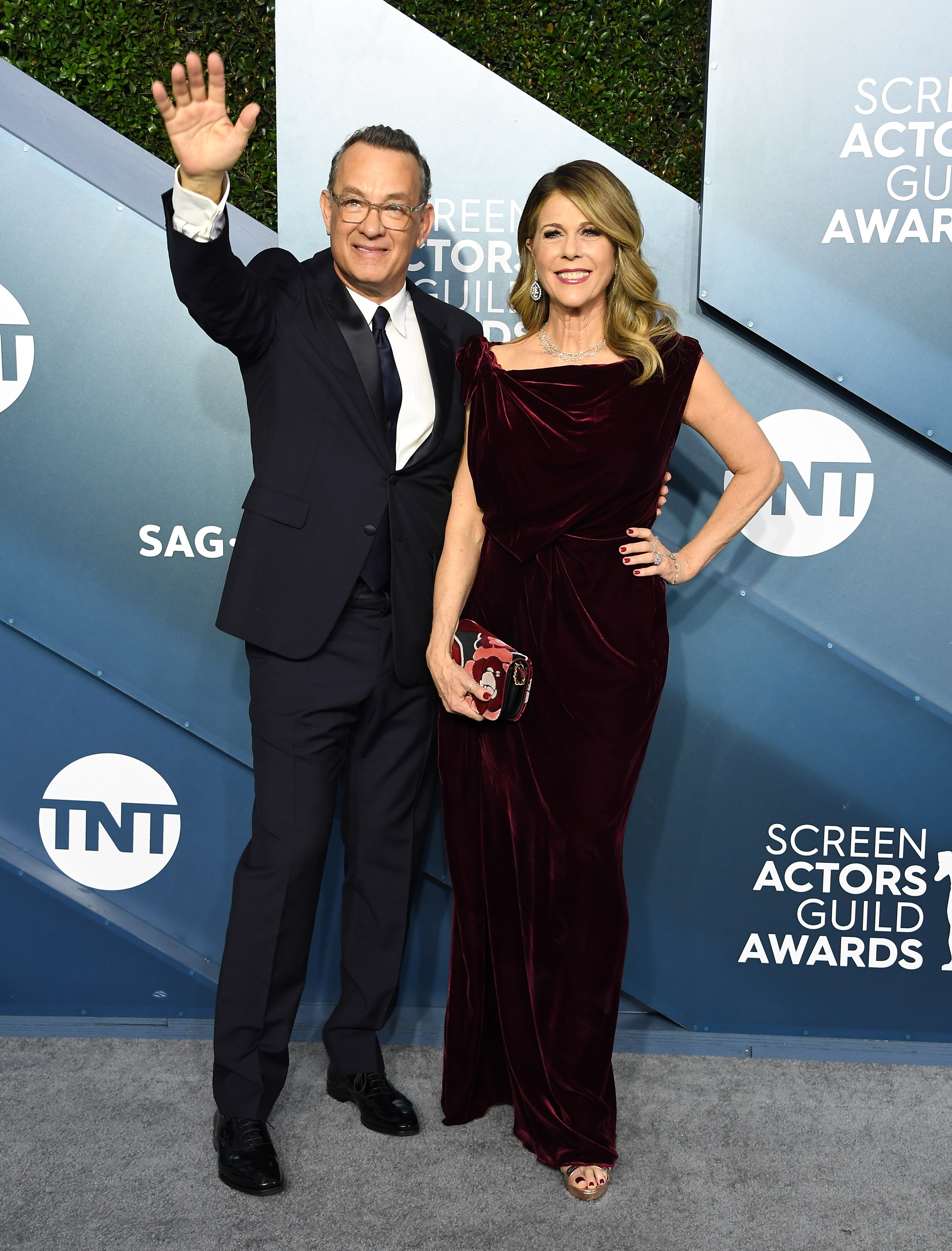 Tom Hanks and Rita Wilson arrives at the 26th Annual Screen ActorsGuild Awards on January 19, 2020, in Los Angeles, California.   Source: Getty Images.