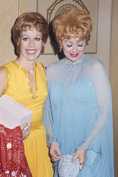 Carol Burnett and Lucille Ball.  Photo: Getty Images.