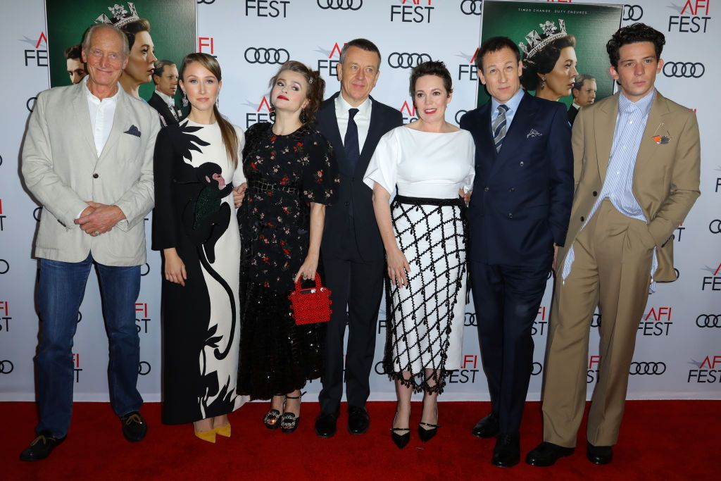 """Cast of the TV show """"The Crown"""" at the premiere during AFI FEST 2019 Presented By Audi at TCL Chinese Theatre on November 16, 2019 in Hollywood, California   Photo: Getty Images"""
