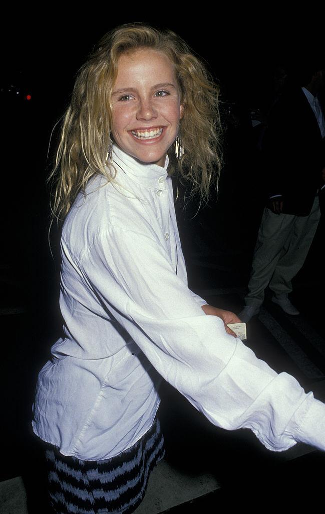 Amanda Peterson sighted on August 8, 1988 at Ed Debevic's Restaraunt in Beverly Hills, California   Photo: Getty Images