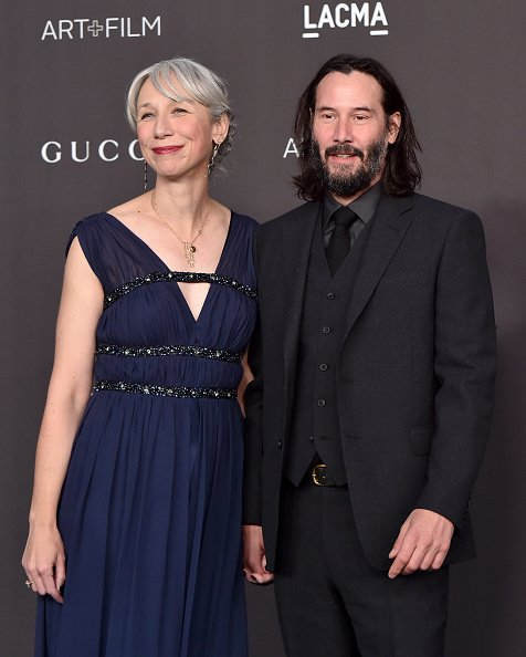 Alexandra Grant and Keanu Reeves attend the 2019 LACMA Art + Film Gala Presented By Gucci on November 02, 2019 in Los Angeles, California | Photo: Getty Images