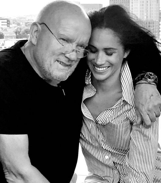 Peter Lindbergh and Meghan Markle/ Source: Instagram/ sussexroyal