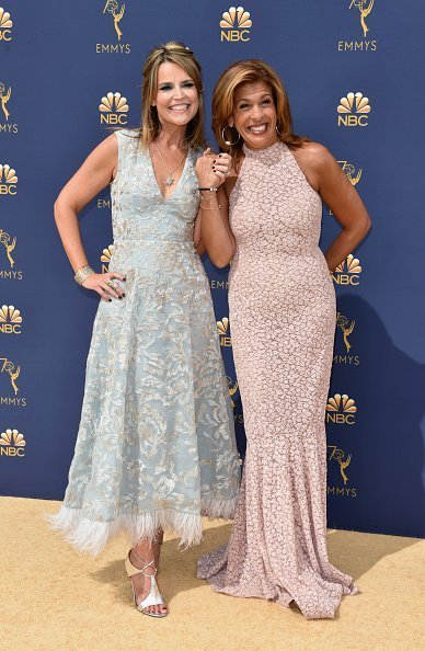 Savannah Guthrie and Hoda Kotb at Microsoft Theater on September 17, 2018 in Los Angeles, California.   Photo: Getty Images