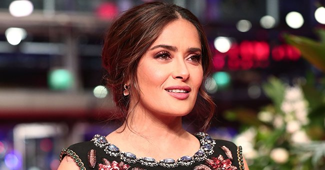 Salma Hayek Exposes Wet & Massive Cleavage as She Submerges Herself Underwater in a Cool Snap