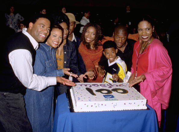 "Casts of popular Tv series ""Moesha"" celebrating the 100Th Episode Of The Comedy Series 