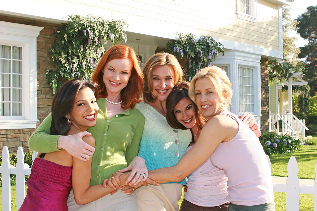 """The """"Desperate Housewives"""" cast on the set of the show in 2005 