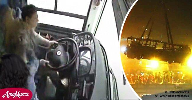 La femme qui a agressé le chauffeur d'autobus ayant raté son arrêt, a provoqué un terrible accident mortel (Vidéo)