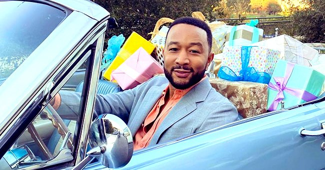 John Legend Posts Adorable Photo Posing with His Look-Alike Son Miles Rocking a Striped Shirt