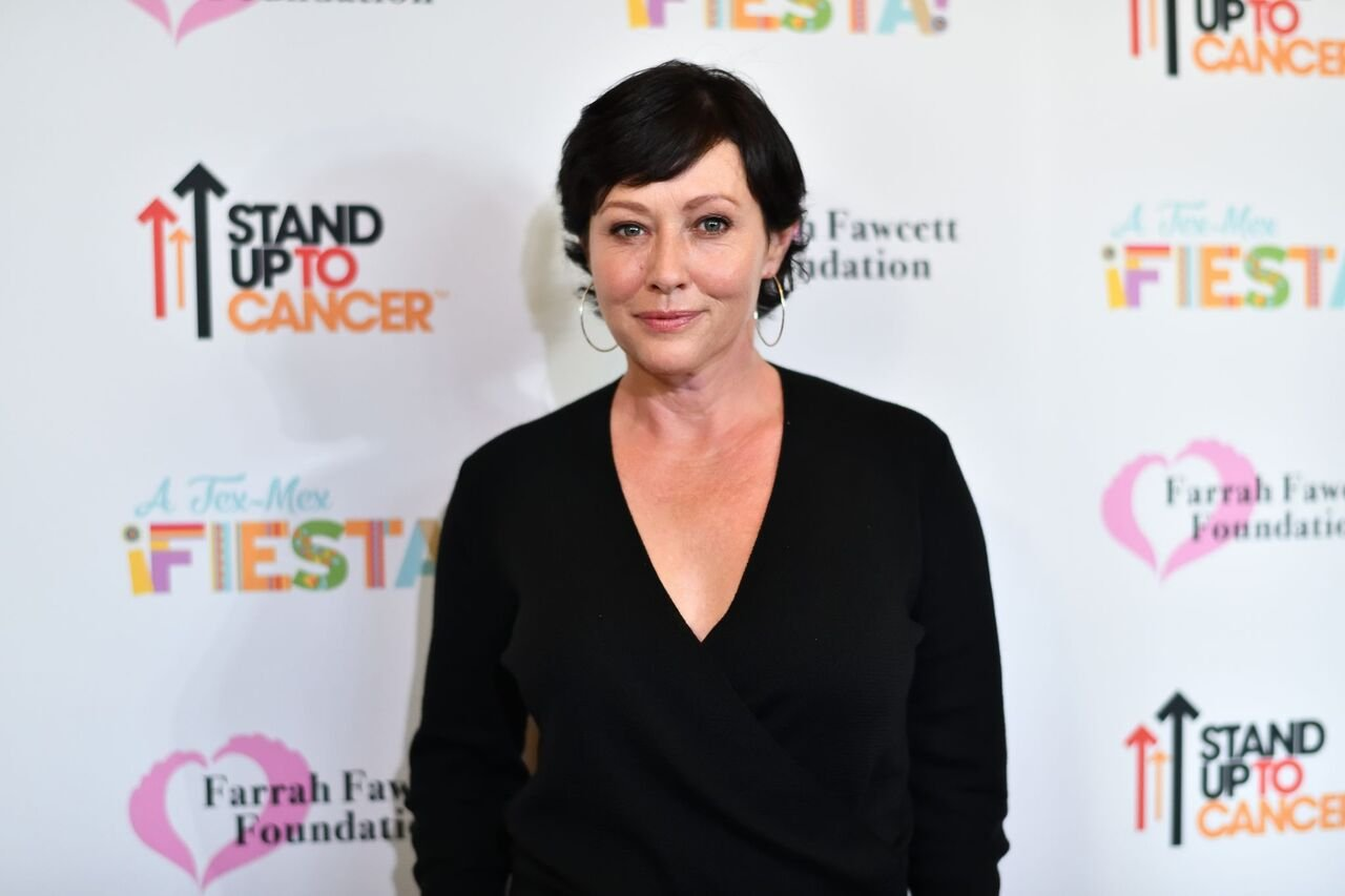 "Shannen Doherty attends the Farrah Fawcett Foundation's ""Tex-Mex Fiesta"" Honoring Stand Up To Cancer at Wallis Annenberg Center for the Performing Arts in Beverly Hills, California 