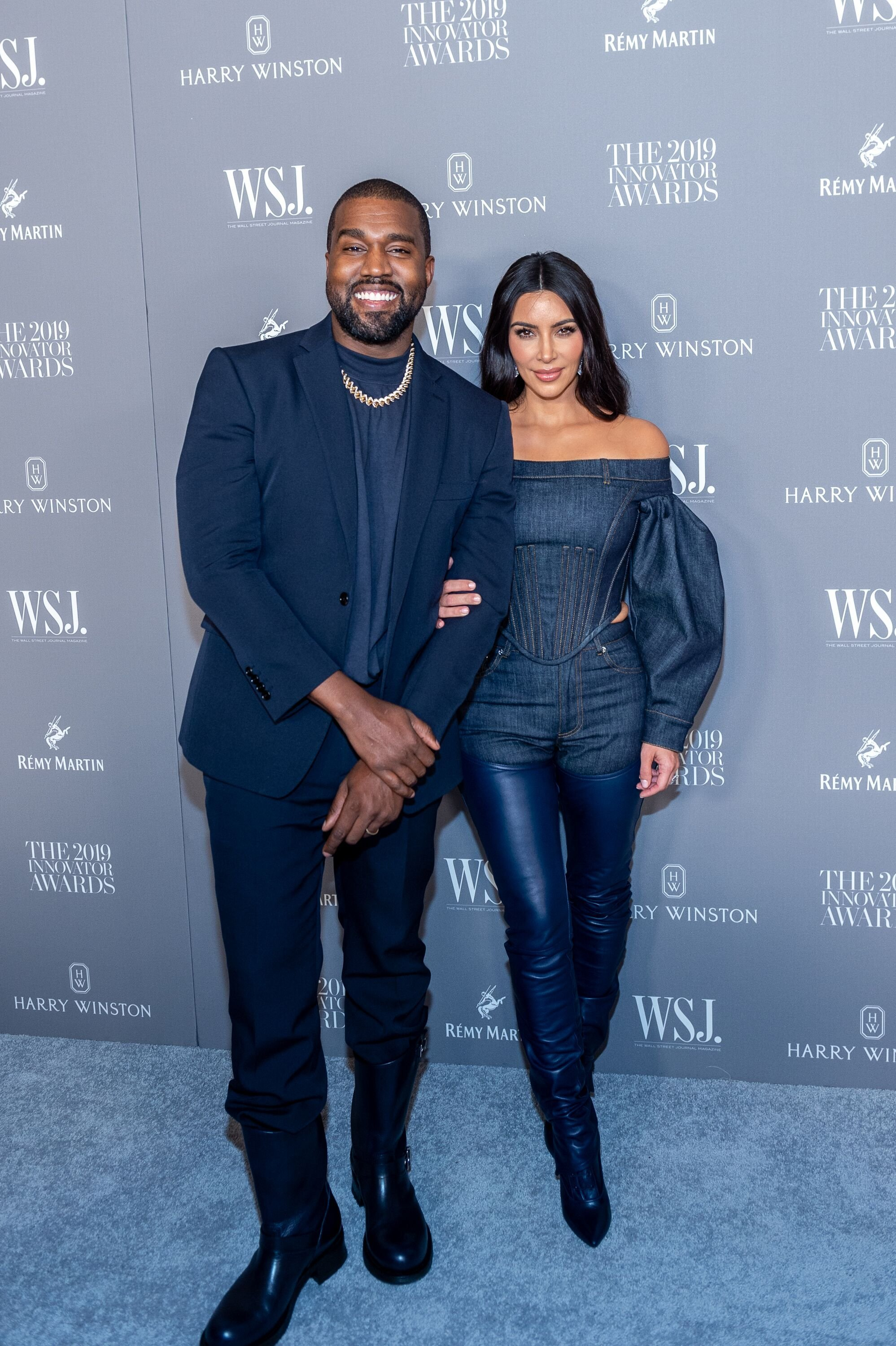 Kanye West and Kim Kardashian at the WSJ Mag Innovator Awards on November 06, 2019, in New York City | Photo: Mark Sagliocco/WireImage/Getty Images
