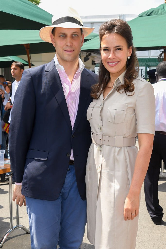 Lord Frederick Windsor and Sophie Winkleman attend day eleven of the Wimbledon Tennis Championships at All England Lawn Tennis and Croquet Club on July 12, 2019 | Photo: Getty Images