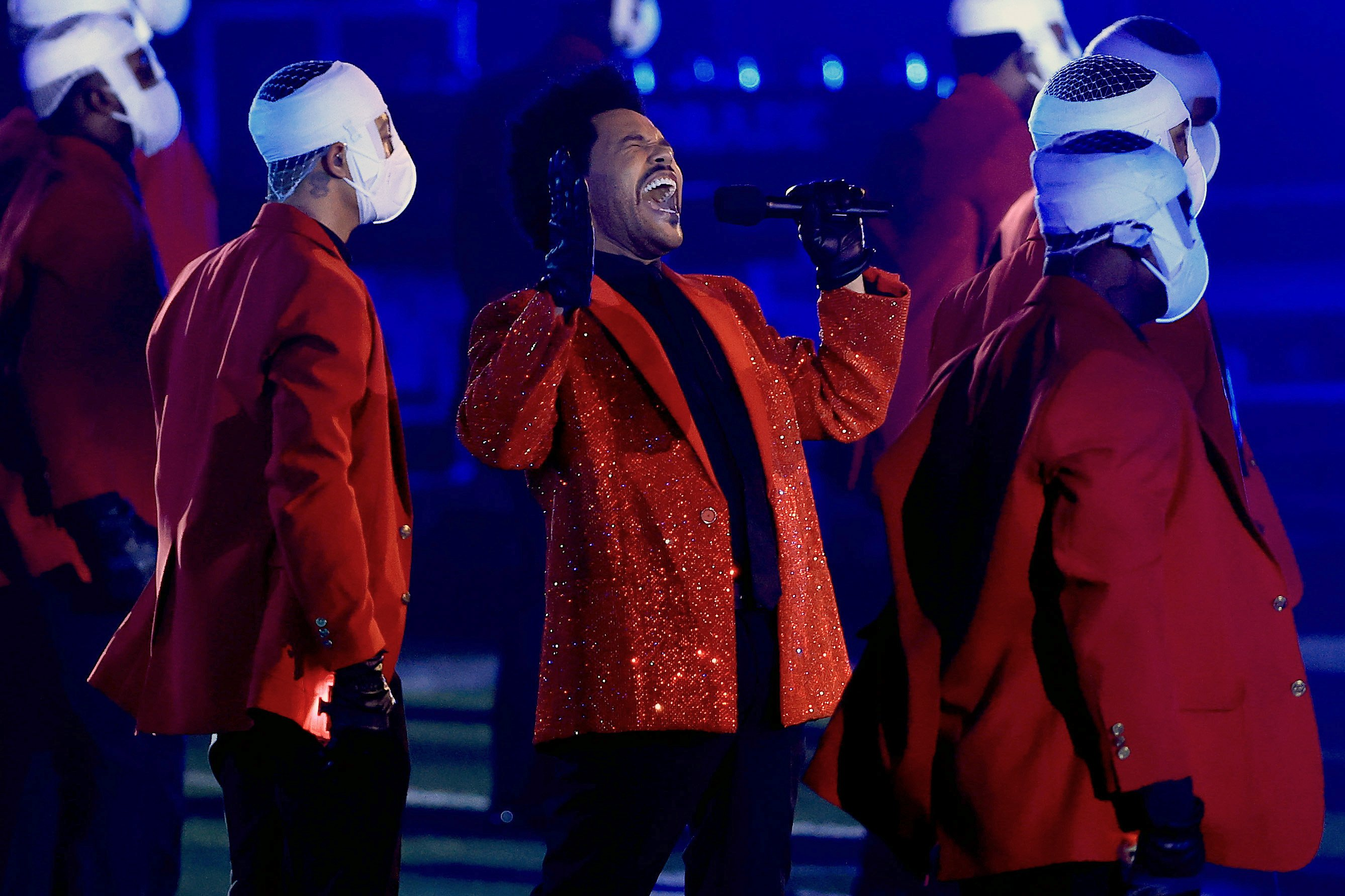The Weekend performed at the 2021 Super Bowl Halftime Show in Tampa, February, 2021. | Photo: Getty Images.
