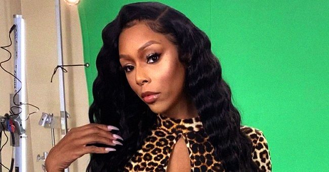 Lil Scrappy's Wife Displays Her Curves in Tight Leopard-Print Fringed Dress with Deep Cleavage