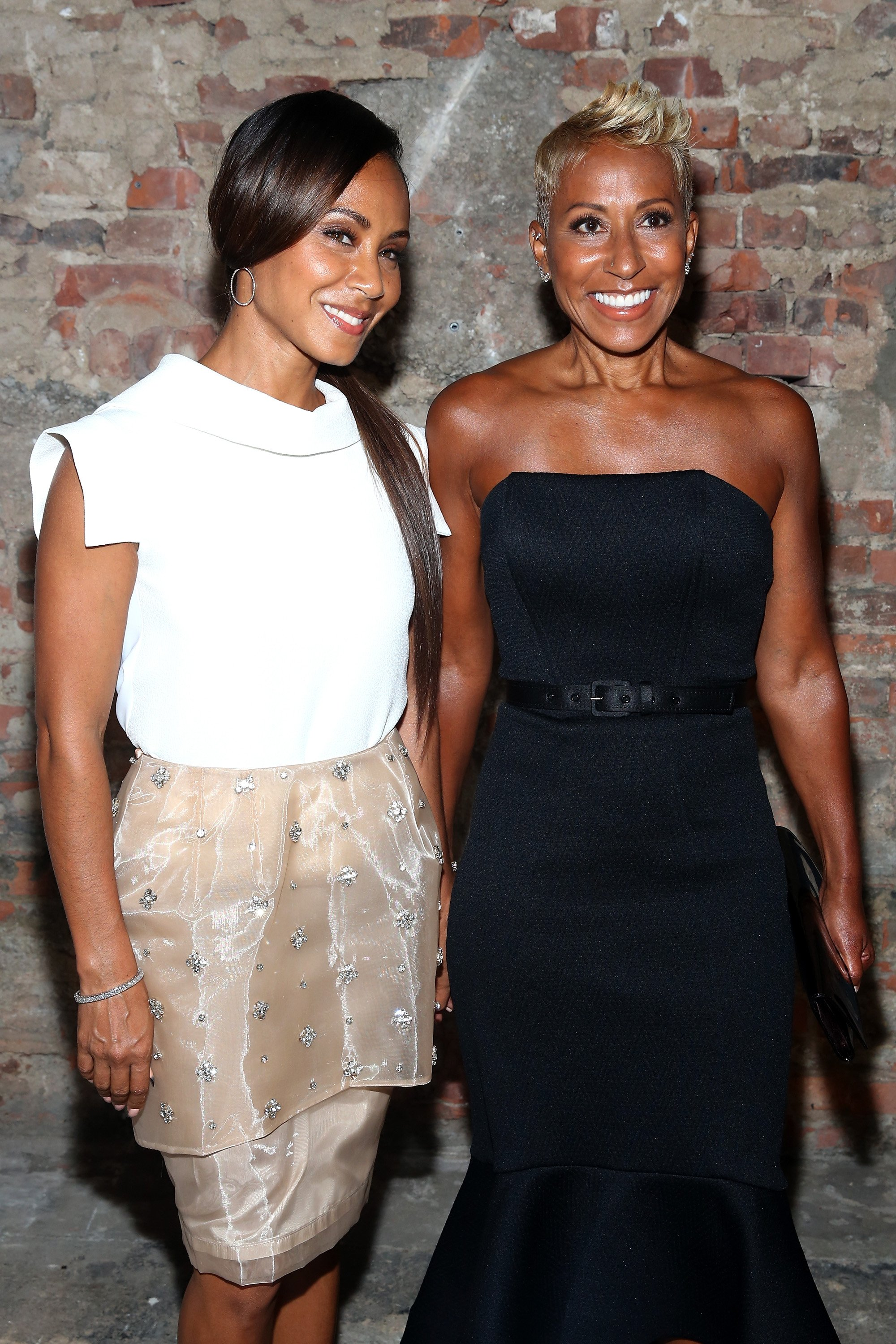 Jada Pinkett Smith and her mother, Adrienne Banfield Norris during Mercedes Benz Fashion week in 2015. | Photo: Getty Images