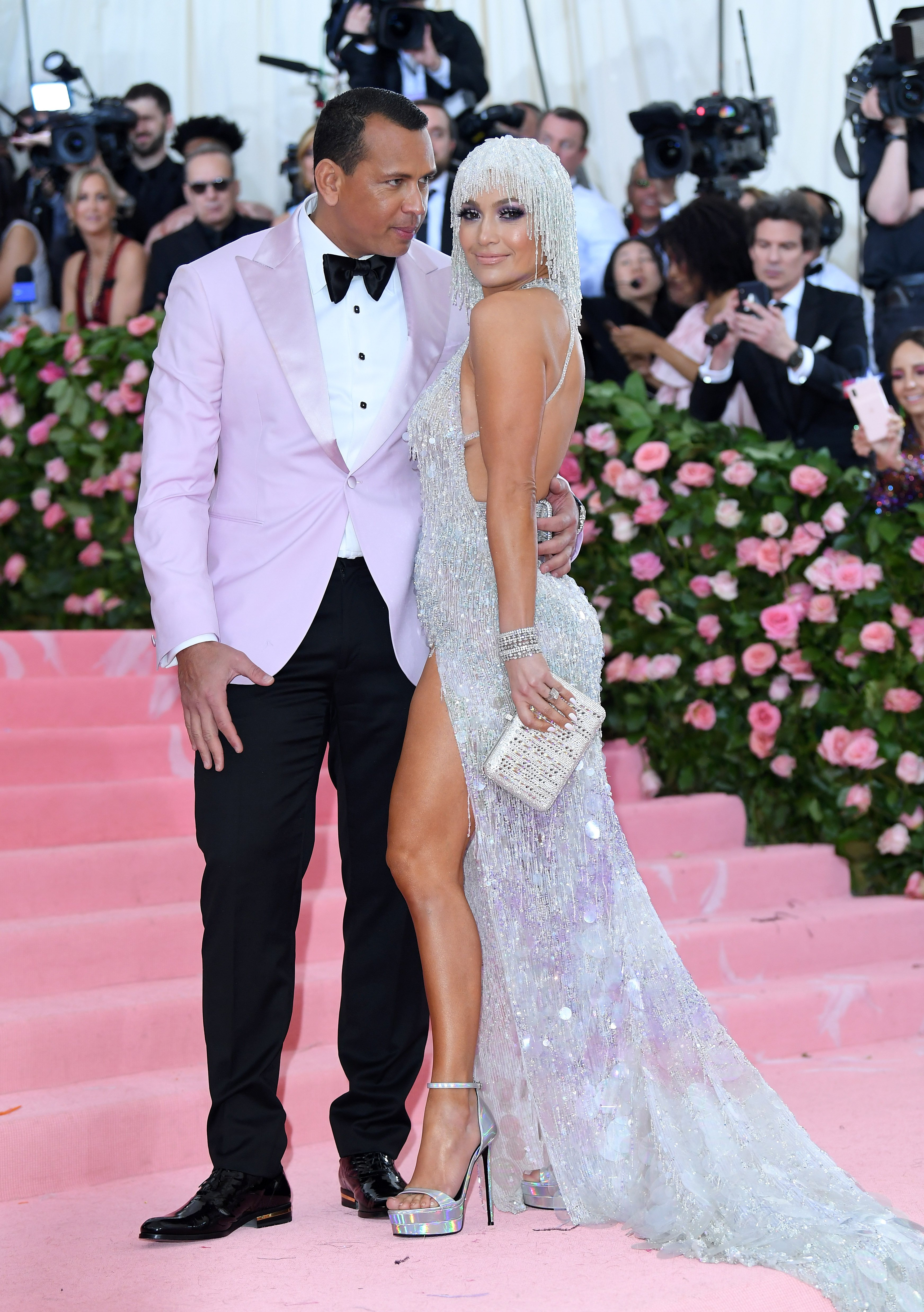 Jennifer Lopez and Alex Rodriguez arrive for the 2019 Met Gala celebrating Camp: Notes on Fashion at The Metropolitan Museum of Art on May 06, 2019. | Source: Getty Images.