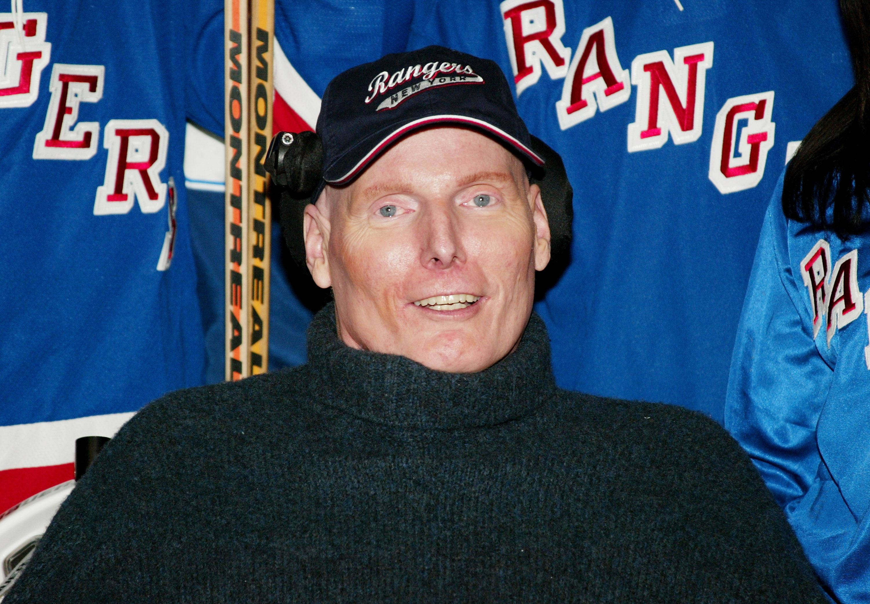 Christopher Reeve at the SuperSkate VI charity hockey event at Madison Square Garden on January 25, 2004, in New York City | Photo: Evan Agostini/Getty Images