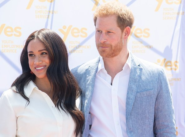 Prince Harry and Meghan Markle on October 2, 2019 in Johannesburg, South Africa | Source: Getty Images