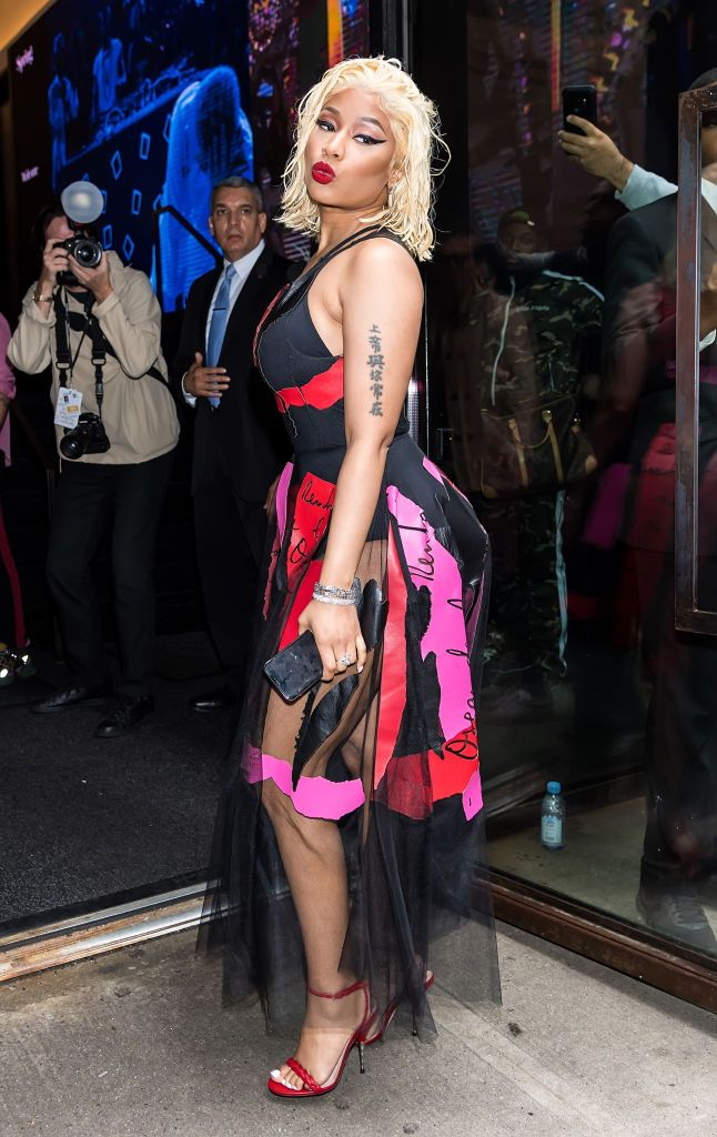 Nicki Minaj at the Oscar De La Renta SS19 Fashion Show during New York Fashion Week on September 11, 2018, in New York City | Photo: Gilbert Carrasquillo/GC Images/Getty Images