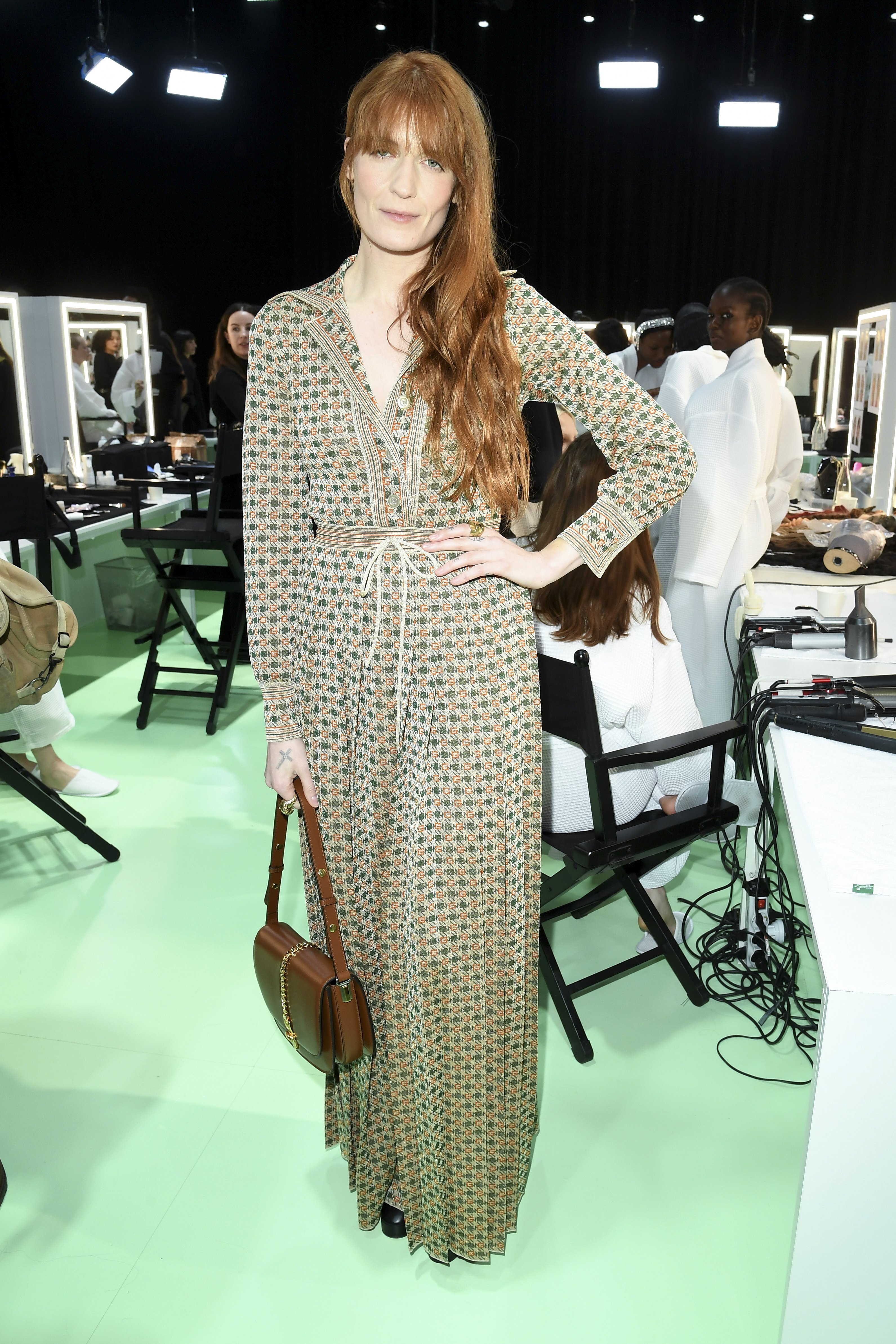 Florence Welch pictured backstage at the  Gucci Backstage during Milan Fashion Week Fall/Winter 2020/21, 2020, Milan, Italy. | Photo: Getty Images