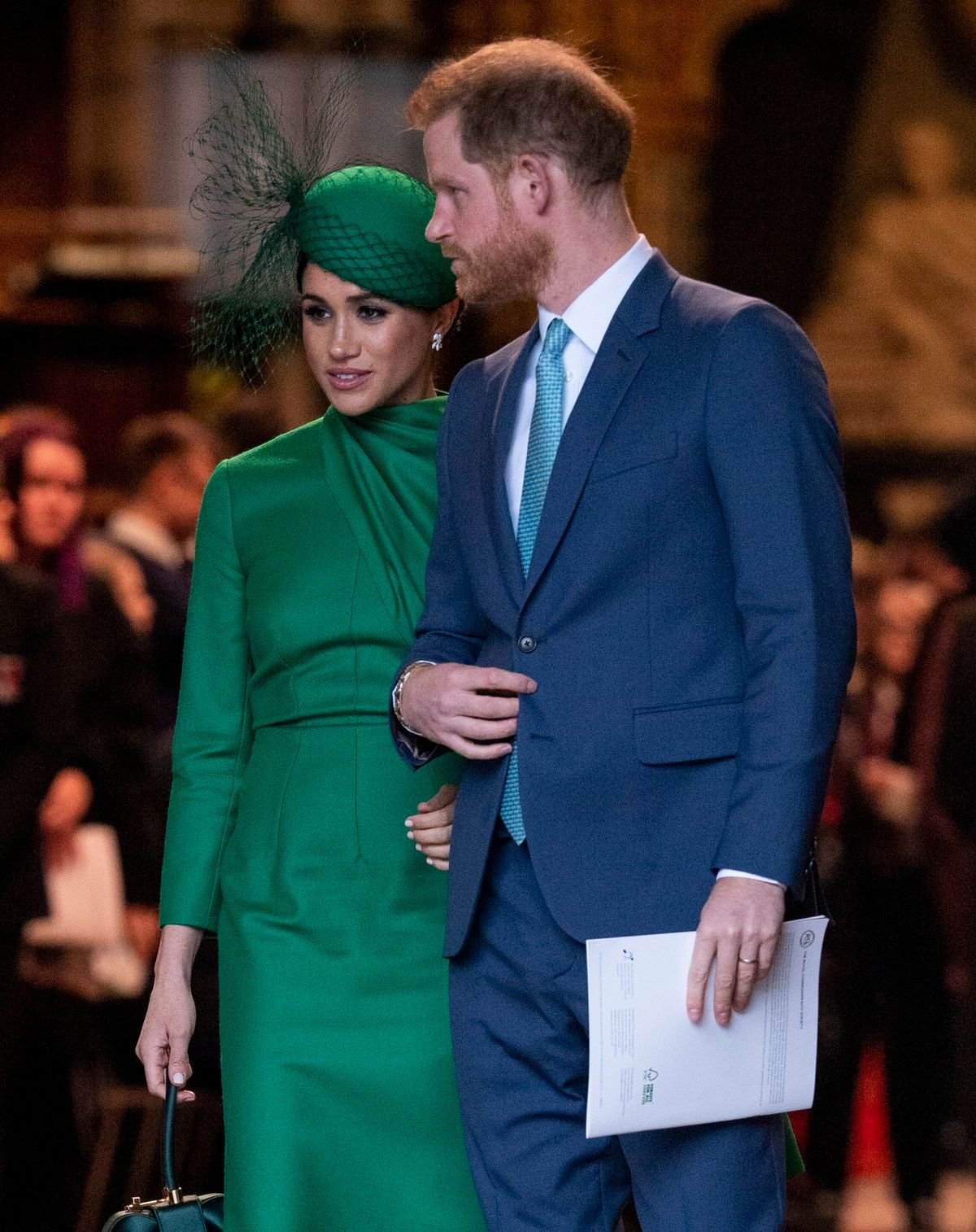 Duchess Meghan and Prince Harry at the Commonwealth Day Service held at Westminster Abbey on March 9, 2020, in London, England | Photo: Mark Cuthbert/UK Press/Getty Images
