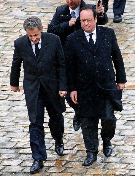 La photo de François Hollande et Nicolas Sarkozy le 28 mars 2018 à Paris, en France   Source: Getty Images / Global Ukraine