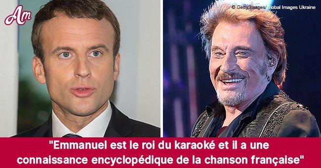 Emmanuel Macron: découvrez les chansons de Johnny Hallyday qu'il aimait chanter au karaoké