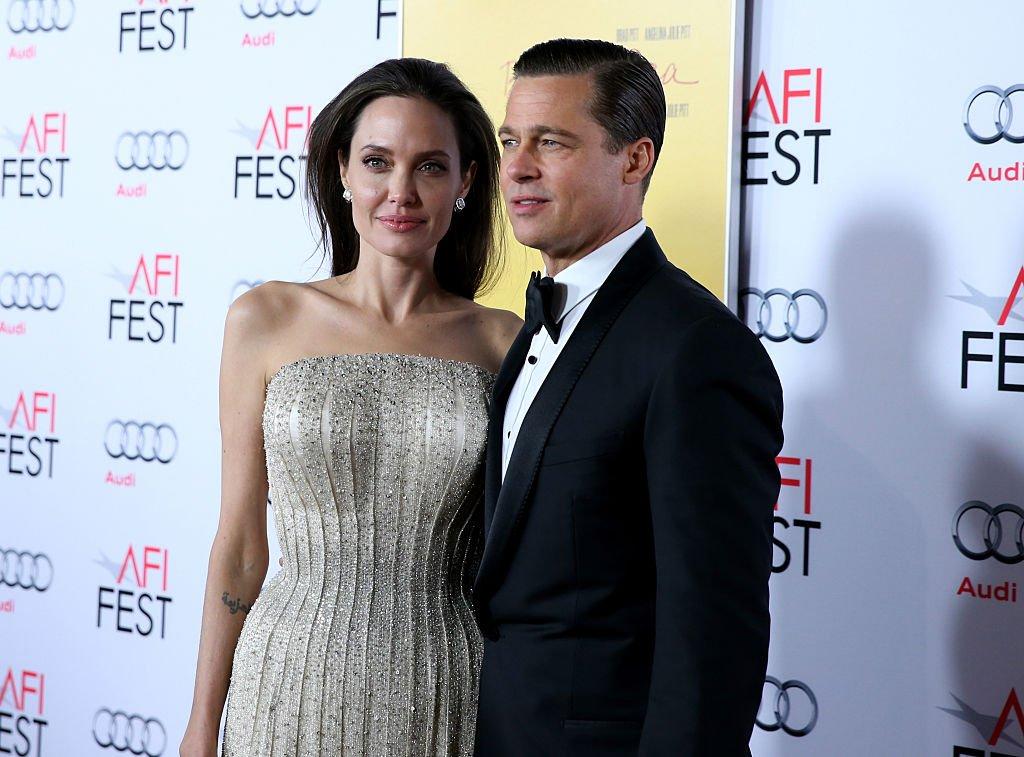 Brad Pitt et Angelina Jolie en 2015. l Source : Getty Images