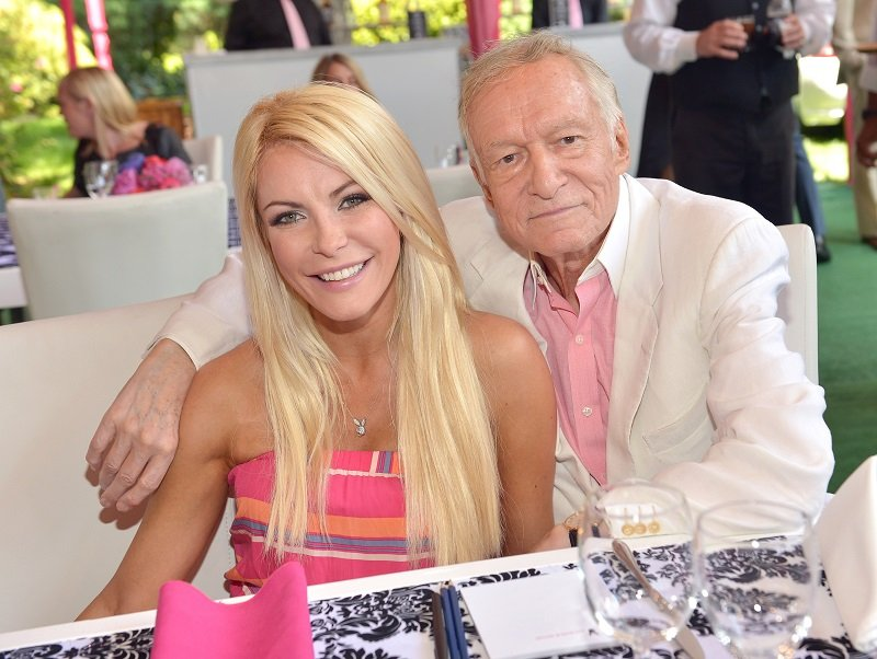 Crystal Hefner and Hugh Hefner on May 9, 2013 in Holmby Hills, California | Photo: Getty Images