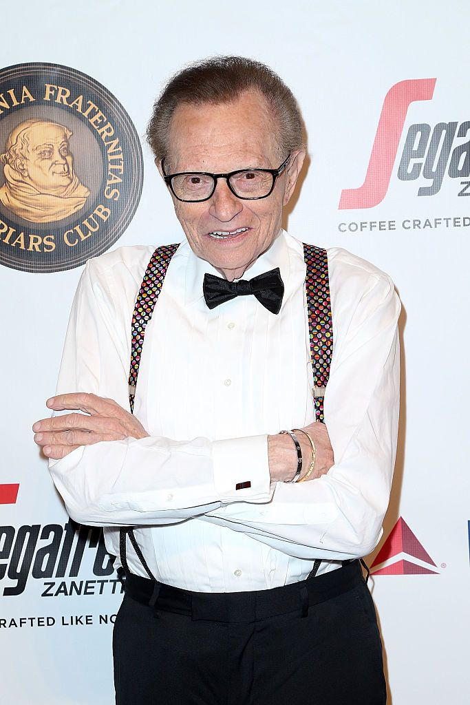 Larry King at Friars Club Honors Martin Scorsese with Entertainment Icon Award on September 21, 2016, in New York City   Photo: Jimi Celeste/Patrick McMullan/ Getty Images