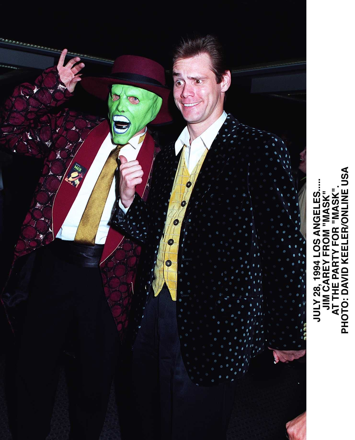 "Jim Carrey At The Premiere Party For ""Mask"" in Los Angeles on July 28, 1994 