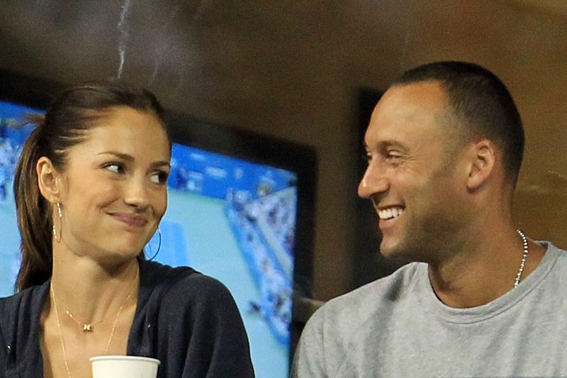 Minka Kelly and Derek Jeter on September 4, 2010 in the Flushing neighborhood of the Queens borough of New York City   Photo: Getty Images