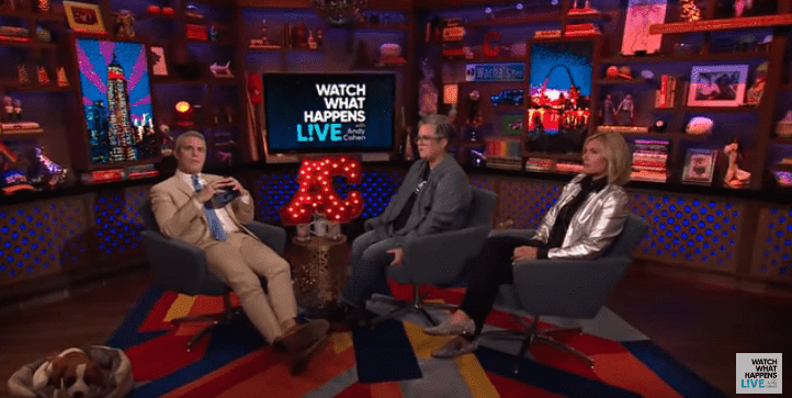 Rosie O'Donnell receiving a call on Andy Cohen's show on June 24, 2019   Photo: YouTube/Watch What Happens Live With Andy Cohen