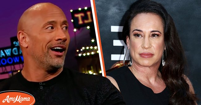 Photo of Dwayne 'The Rock' Johnson and Dany Garcia.   Photo: Getty Images, Youtube.com/The Late Late Show with James Corden